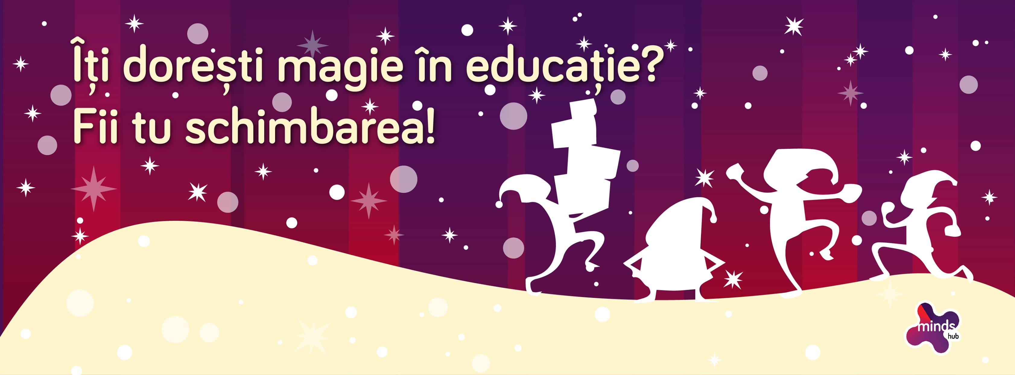 Povestea aceasta este despre tine, despre noi, despre cum putem aduce un suflu nou în educație!