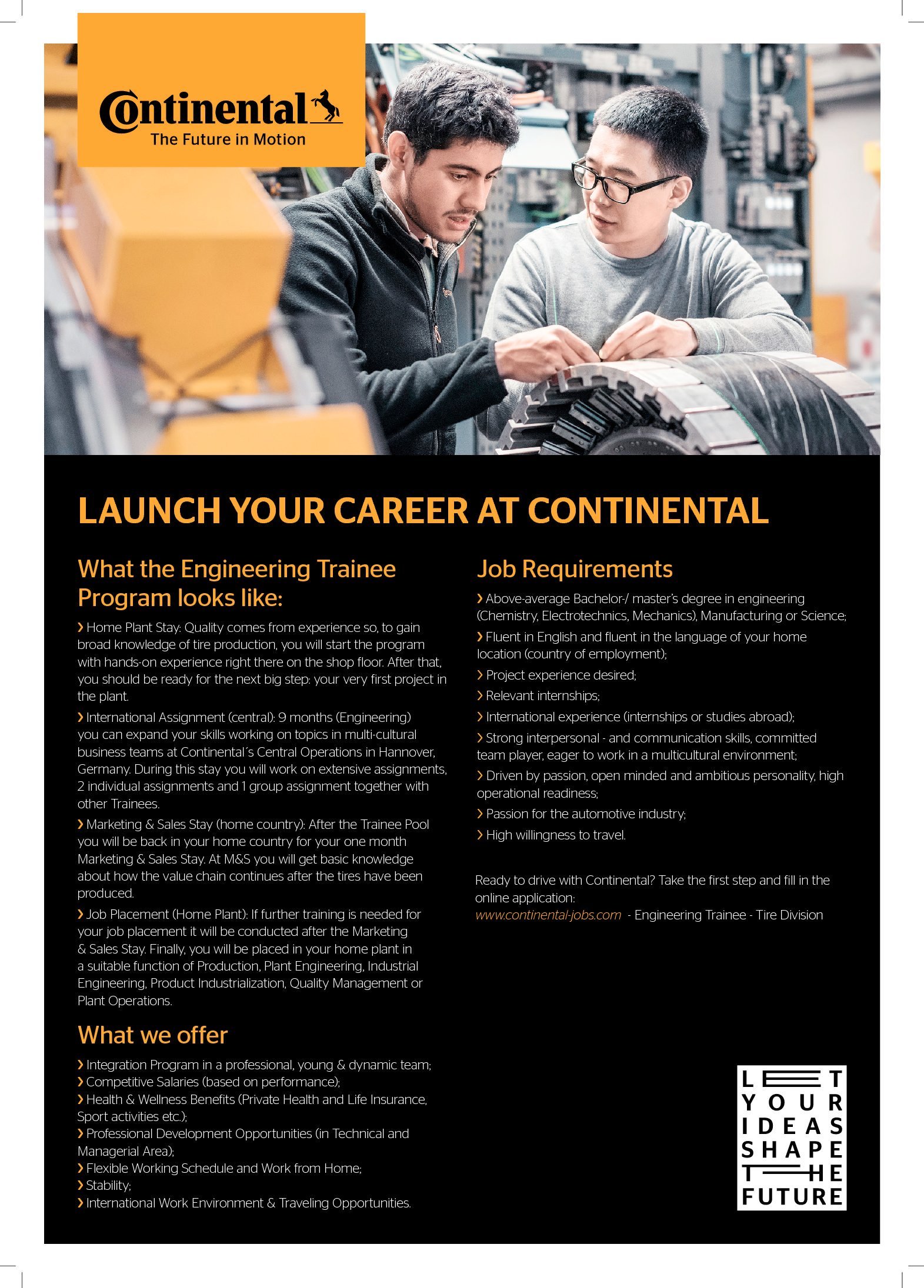 Launch your career at Continental